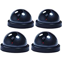 4 PCs Fake Dummy Dome Surveillance Security Camera CCTV w/ Record Flash Light