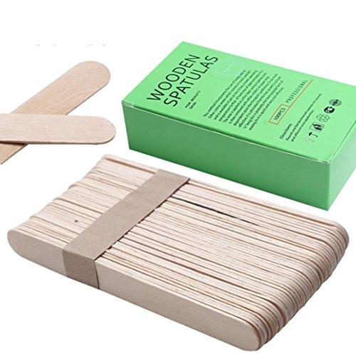AMA(TM) 100PCS Wooden Body Leg Arm Hair Removal Sticks Wax Waxing Disposable Sticks (100pcs)