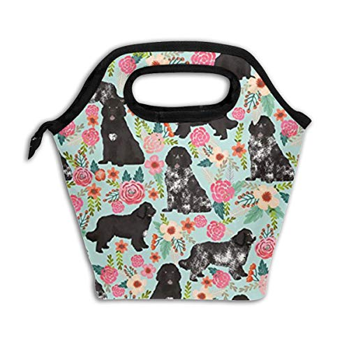 (Newfoundland Dogs Cut Puppy Reusable Insulated Lunch Bag Cooler Tote Box with Zipper Closure for Woman Man Work Pinic Or Travel)