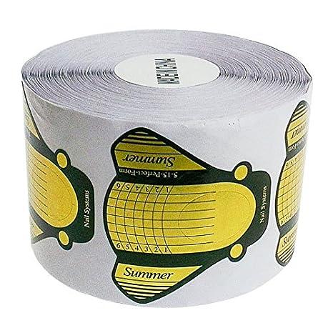 Guias - moldes- uñas de gel/acrílicas - 100 unidades. Summer oro - color negro y oro - Molde para uñas - Blucc Style: Amazon.es: Belleza