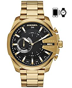 DIESEL Men's DZT1013 Year-Round Smart Digital Gold Band Watch