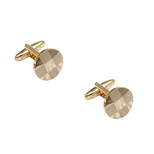 Westeng 1 par de Gemelos de Acero inoxidable Personalidad Botones para Accesorios de la Camisa,Color Oro: Amazon.es: Hogar