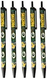 NFL Green Bay Packers Disposable Black Ink Click Pens, 5-Pack