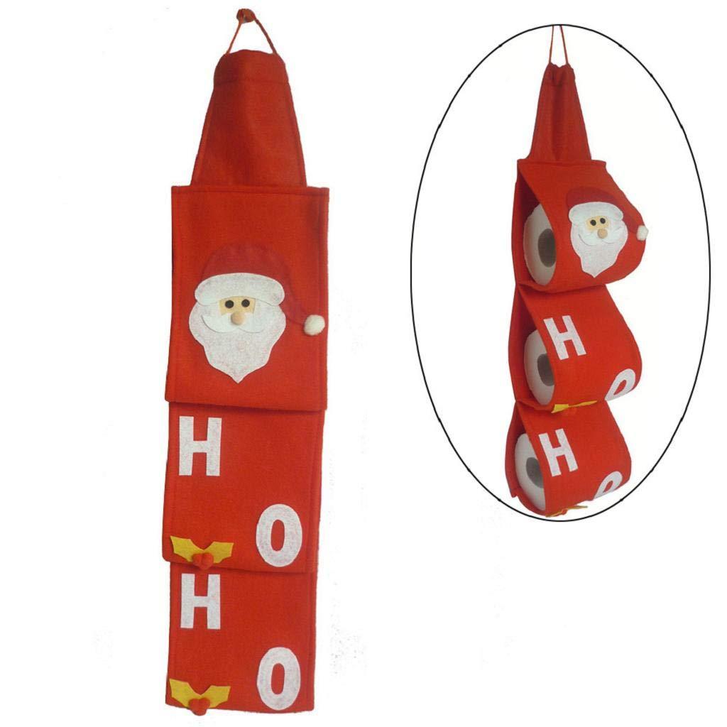 QUICKLYLY Juego De Toallas Papá Noel Cubiertas Navidad Fiesta Boda Bolsas Papel