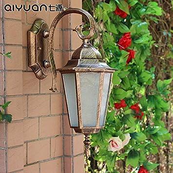 Moderna Luz De Jardín De Agua Exterior Europea Retro Pared De Escalera Balcón Original Pared Pared