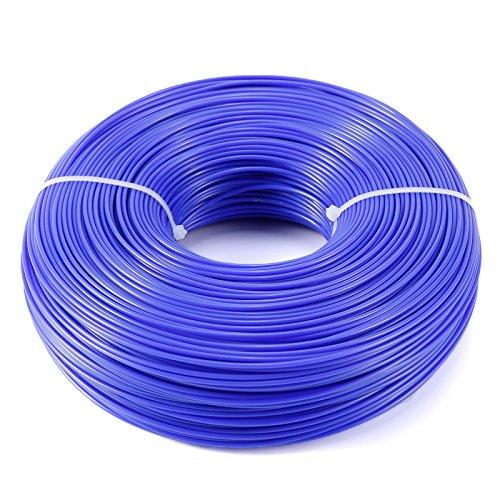 Hamimelon Nylon Trimmer Line Rope Roll Cord Wire String Grass Strimmer Garden (1.6mm x 215m Blue)