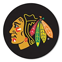 FANMATS NHL Chicago Blackhawks Nylon Face Hockey Puck Rug