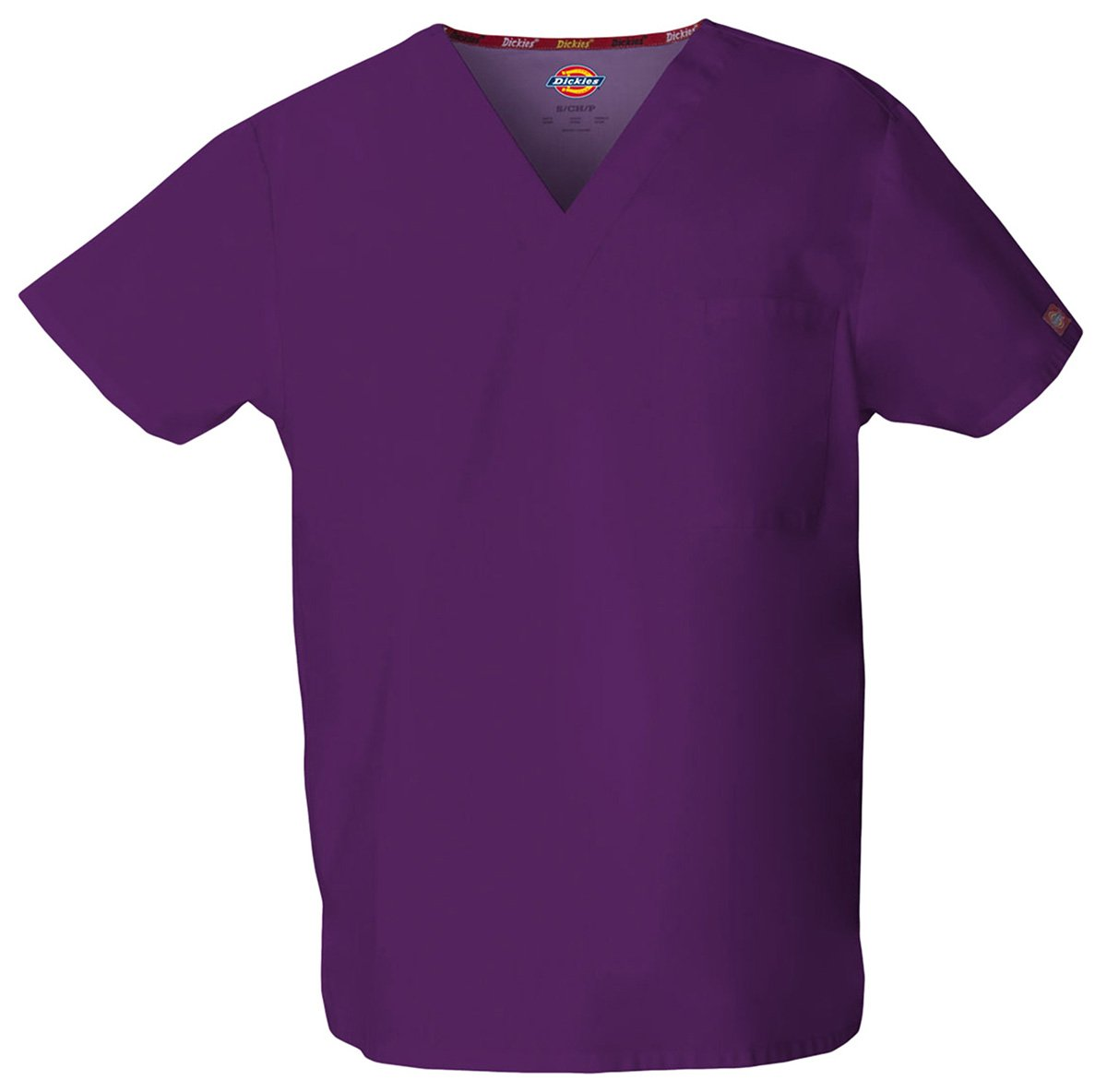 Dickies Unisex Bar-Tacked V-Neck Top_Eggplant_XX-Large,83706