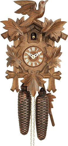 German Cuckoo Clock 8-day-movement Carved-Style 12.00 inch - Authentic black forest cuckoo clock by ()
