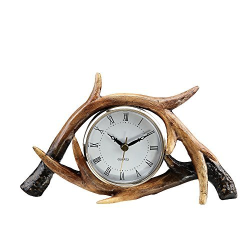 Antler Table Clock - Resin White Clock