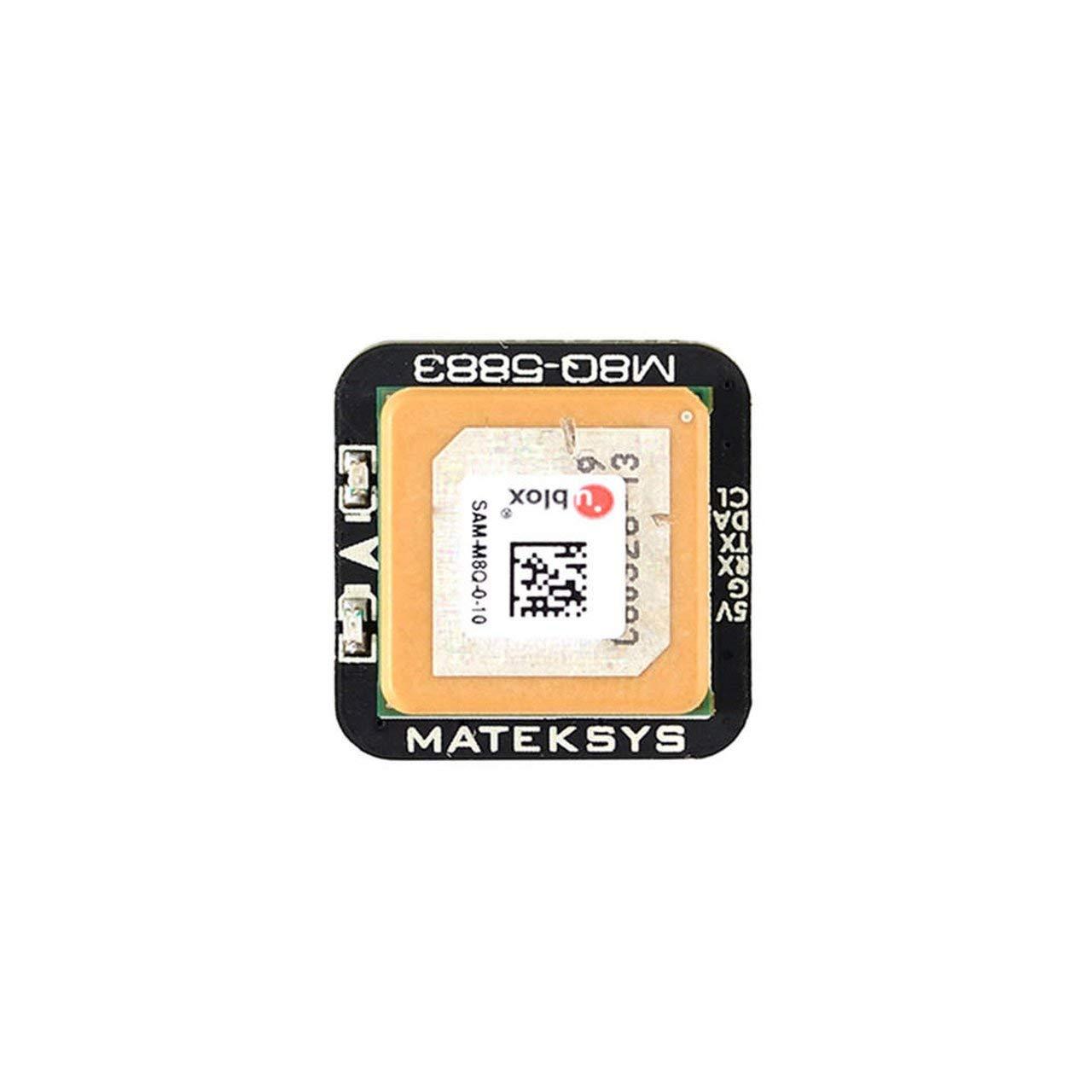 Jasnyfall Matek Systems M8Q5883 Ublox SAMM8Q GPS-Modul mit Drone QMC5883L-Kompass Mehrfarbig