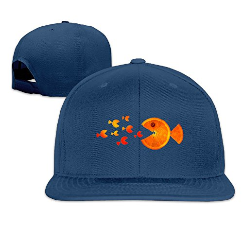 Ianeva Fish Sweet Orange Cute Baseball Caps Youth Vintage Snapbacks (Fish Tank Cleaner 3 Gallon compare prices)