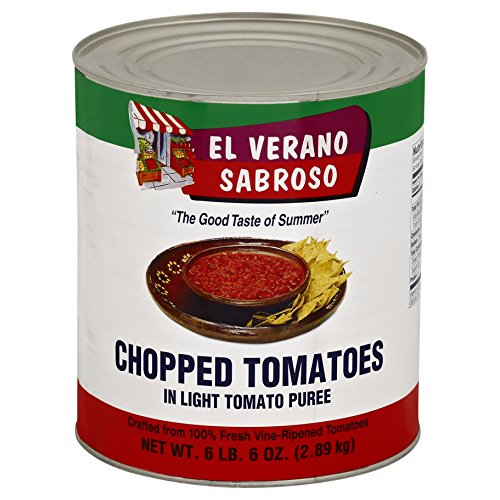 (El Verano Sabroso Chopped Tomatoes in Lite Puree (6.6lb Cans, Pack of 6))