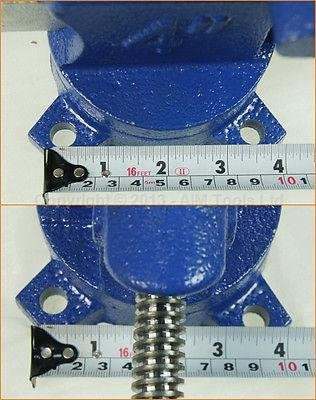 402326 4 Good Quality Cast Iron Adjustable Swivel Base Bench Vice 100MM