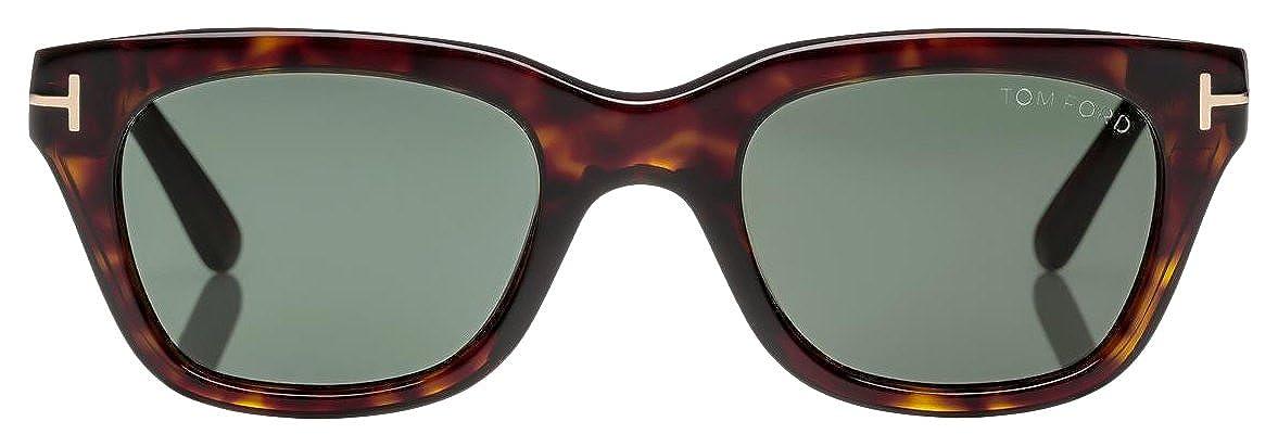 faf509fb617 Tom Ford Snowdon FT0237 Sunglasses-52N Dark Havana (Green Lens)-52mm at  Amazon Men s Clothing store