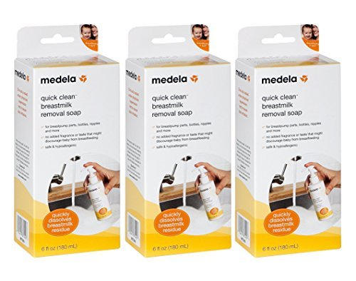 Medela Quick Clean Breast Milk Removal Soap, 6 Ounce (3 Pack)