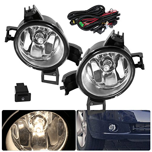 Nissan Alitma Clear Lens Driving Replacement Fog Lights Pair Upgrade Pair Set Lamps Assembly