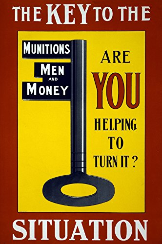 (WWI Men Munitions Money 1915 Poster Print by Science Source (24 x)