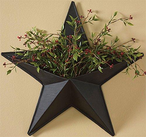 """14\"""" Black Western Star Wall Pocket Decoration"""