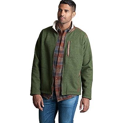 Cheap Overland Sheepskin Co. Holden Italian Wool-Blend Fleece Jacket With Leather Trim