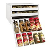 #10: YouCopia Chef's Edition SpiceStack 30-Bottle Spice Organizer with Universal Drawers, White