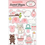 Echo Park Paper Company Sweet Baby Girl Enamel Shapes