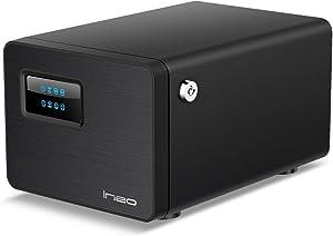 ineo USB 3.1 Gen 2 (10Gbps) Type C Dual Bay 3.5 inch SATA Hard Drive Raid Enclosure [C3538Raid]