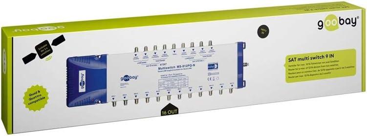 12 Ausg/änge Goobay 67262 SAT Multischalter 5 Eing/änge