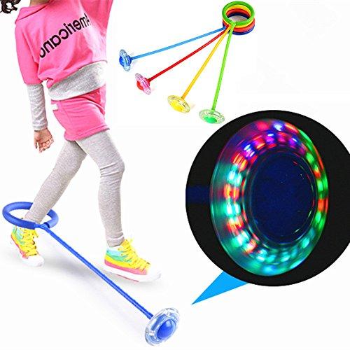 Botrong LED Flashing Jumping Ring Colorful Ankle Skip Jump R