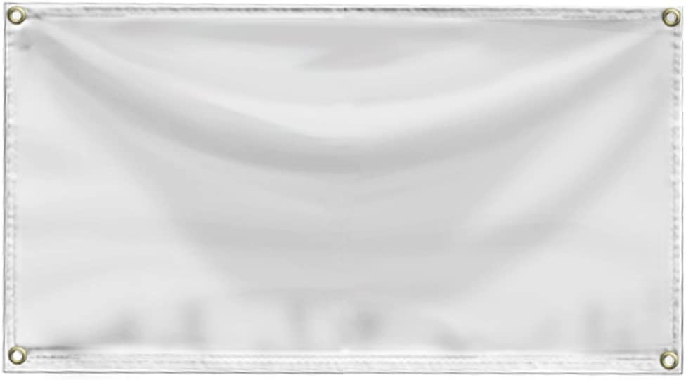 "Wall26- Blank White 24"" x 36"" (2 x 3 Foot) 13 oz. Vinyl Banner with Grommets"