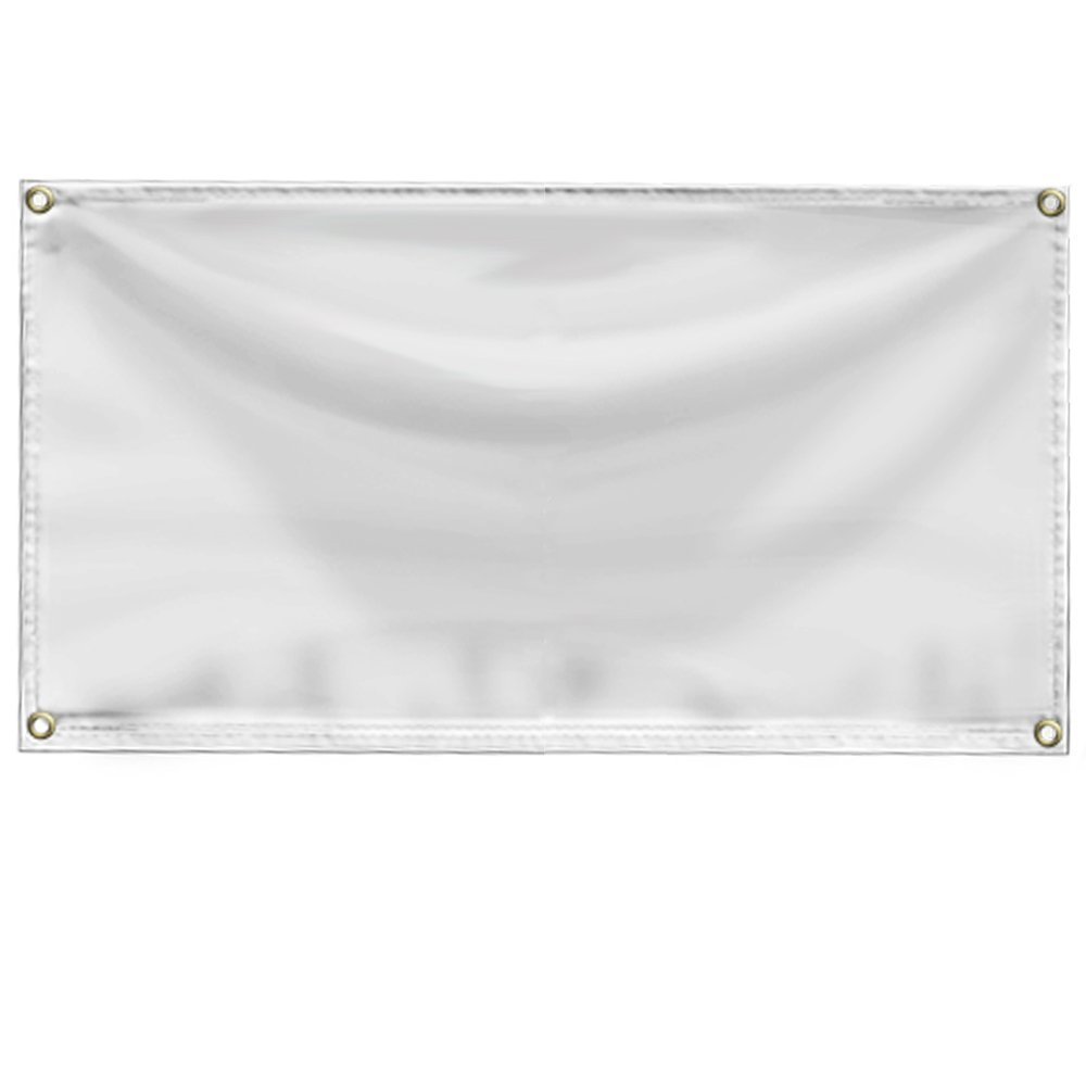 Wall26- Blank White 24'' x 36'' ( 2 x 3 foot ) 13 oz. Vinyl Banner with Grommets