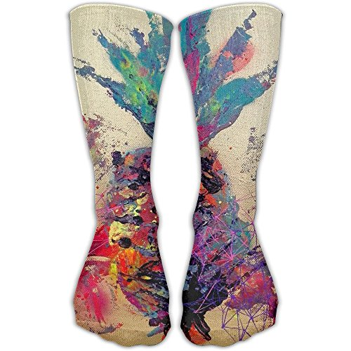 Pineapple Painting Women & Men Socks Soccer Sport Tube Stockings Length 30cm