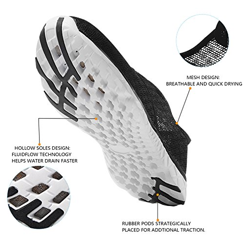 Aqua N Breathable Slip Shoes Mesh Quick Water Drying IceUnicorn Shoes On Trainers Black Mens HnRw078