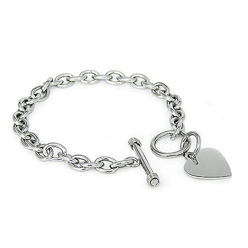 Amazon.com: Brazalete con cadena de acero inoxidable ...