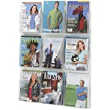 Safco Products 5665CL Clear2c Literature Display, 9 Magazine, Clear