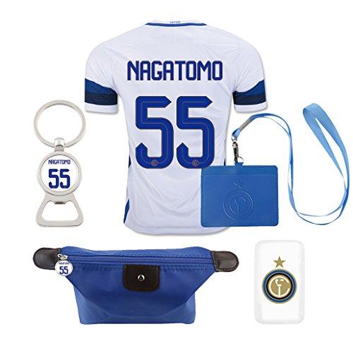 #55 Nagatomo (6 in 1 Combo) Inter Milan Away Match Adult Soccer Jersey 2016-17