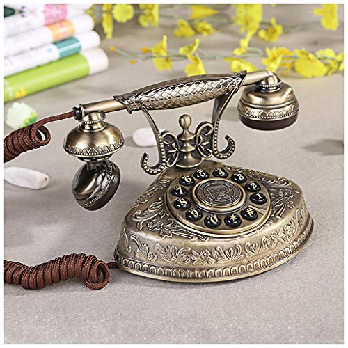 SMC European Antique Telephone Home Antique Living Room Telephone Full Metal Body from SMC Telephone