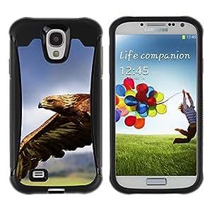 LASTONE PHONE CASE / Suave Silicona Caso Carcasa de Caucho Funda para Samsung Galaxy S4 I9500 / Eagle Flying Magnificent Big Bird Nature