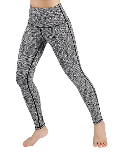 ODODOS High Waist Yoga Pants Tummy Control Workout Running 4 Way Stretch Yoga Leggings With Hidden Pocket