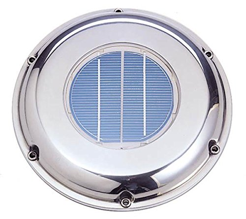 (Sunvent SVT-224S Solar Ventilation Fan w/Battery for Roof, Attic, RV, Boat, Greenhouse - Stainless Steel)