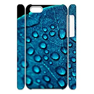 LINMM58281iphone 5/5s Case 3D, Blue Leaf with Dew Drops Case for iphone 5/5s white lmiphone 5/5s171368MEIMEI