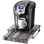 NIFTY 6475 Keurig Brewed Glass Top Storage Drawer, Chrome