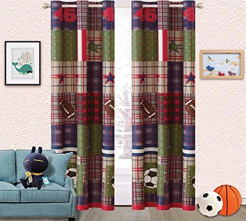 Sapphire Home Kids Boys Girls Teens 2 Window Curtain Panels 84