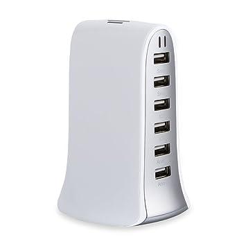 Universal Cargador de Viaje con 6-Puertos USB Adaptador ...
