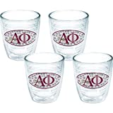 Tervis 1079298 Fraternity - Alpha Phi International Tumbler with Emblem 4 Pack 12oz, Clear