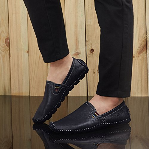 Mens Dark Chelsea Stitching On Loafers Slip Minitoo Blue Style Spring Boys PpxwRUq6