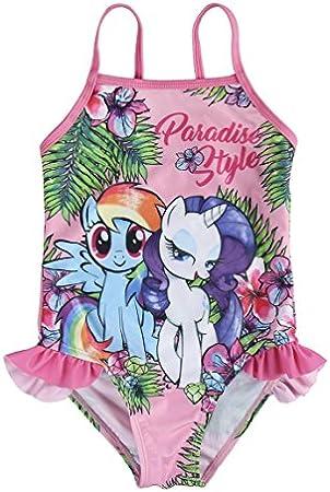My Little Pony 2200002832_03 Traje de baño de una Sola Pieza, Rosa, Verde, 3 años para Niñas