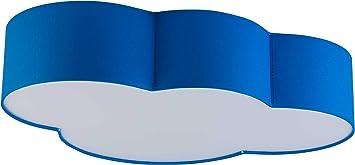 Deckenlampe Lampe M/ädchen Jungen LED Deckenleuchte E27 Kinderzimmer Wolke f/ürs Baby 15 W rosa weiss blau Kinderlampe Blau 1534