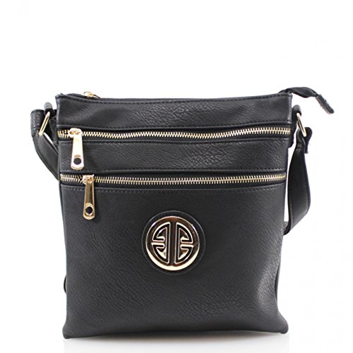 Body CROSS LeahWard D0023 Across Women's Bags Ladies Small Ladies BLACK BODY Handbags Cross Size wqfCvxXq7r