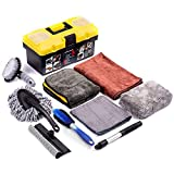 Best Car Wash Supplies - Mofeez Car Cleaning Tools Kit With storage Box Review